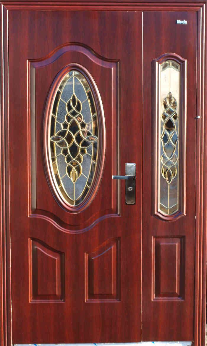 недорогие железные двери со стеклом