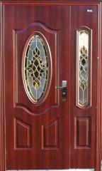 Полуторная витражная входная дверь Mexin 2B 2004 FA