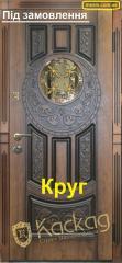 """Двері зі склом Круг (патина) """"Каскад"""""""