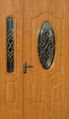 Міжкімнатні полуторні двері вітраж Mexin 2S 2004 FM 1200